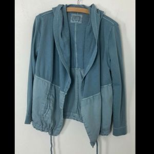 Postmark Anorak Hooded Jacket Coat Blue Contrast